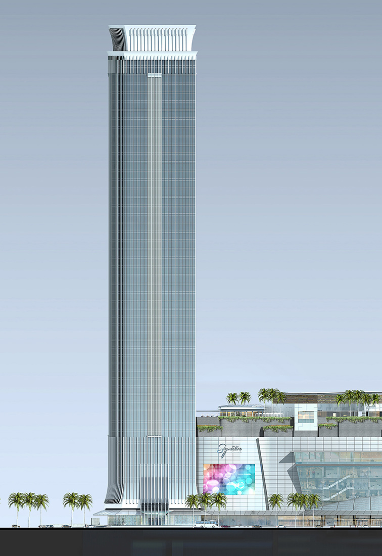 Building Elevation - Enlarged East Elevation - Revenue Tower