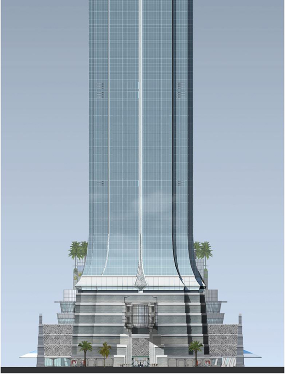 Elevations And Sections Signature Tower Jakarta SCBD