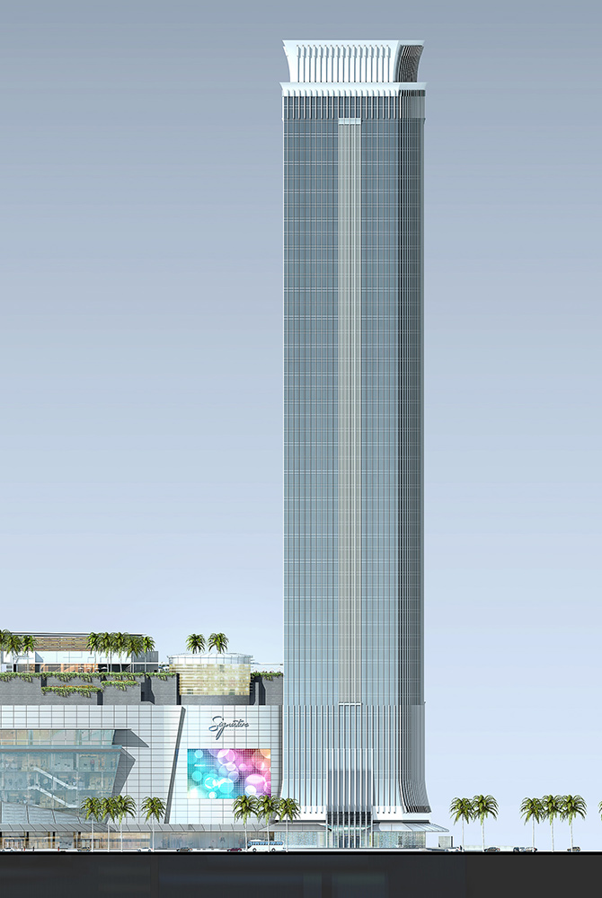 Building Elevation - Enlarged West Elevation - Revenue Tower