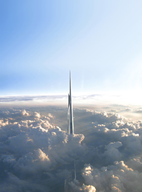 Figure 2: The world's tallest is set to change yet again in 2018 with the completion of the Kingdom Tower © Adrian Smith + Gordon Gill Architecture
