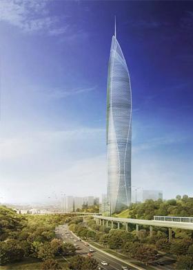 Figure 10: Seoul Light DMC Tower will become a landmark for the city's skyline © SOM | Giroud Pichot