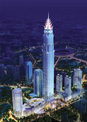 Figure 11: Jakarta is set to contain the world's 5th tallest building, Signature Tower © Smallwood Reynolds Stewart Stewart