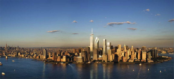 "Figure 13: One World Trade Center Tower is the only building in the western hemisphere included in the ""Tallest 20 in 2020"" © Skidmore, Owings & Merrill 